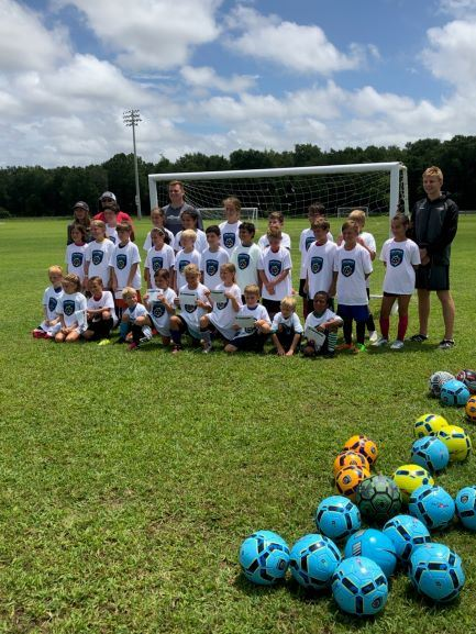 Soccer Players at camp